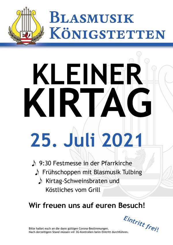 Kleiner Kirtag: 25. Juli 2021